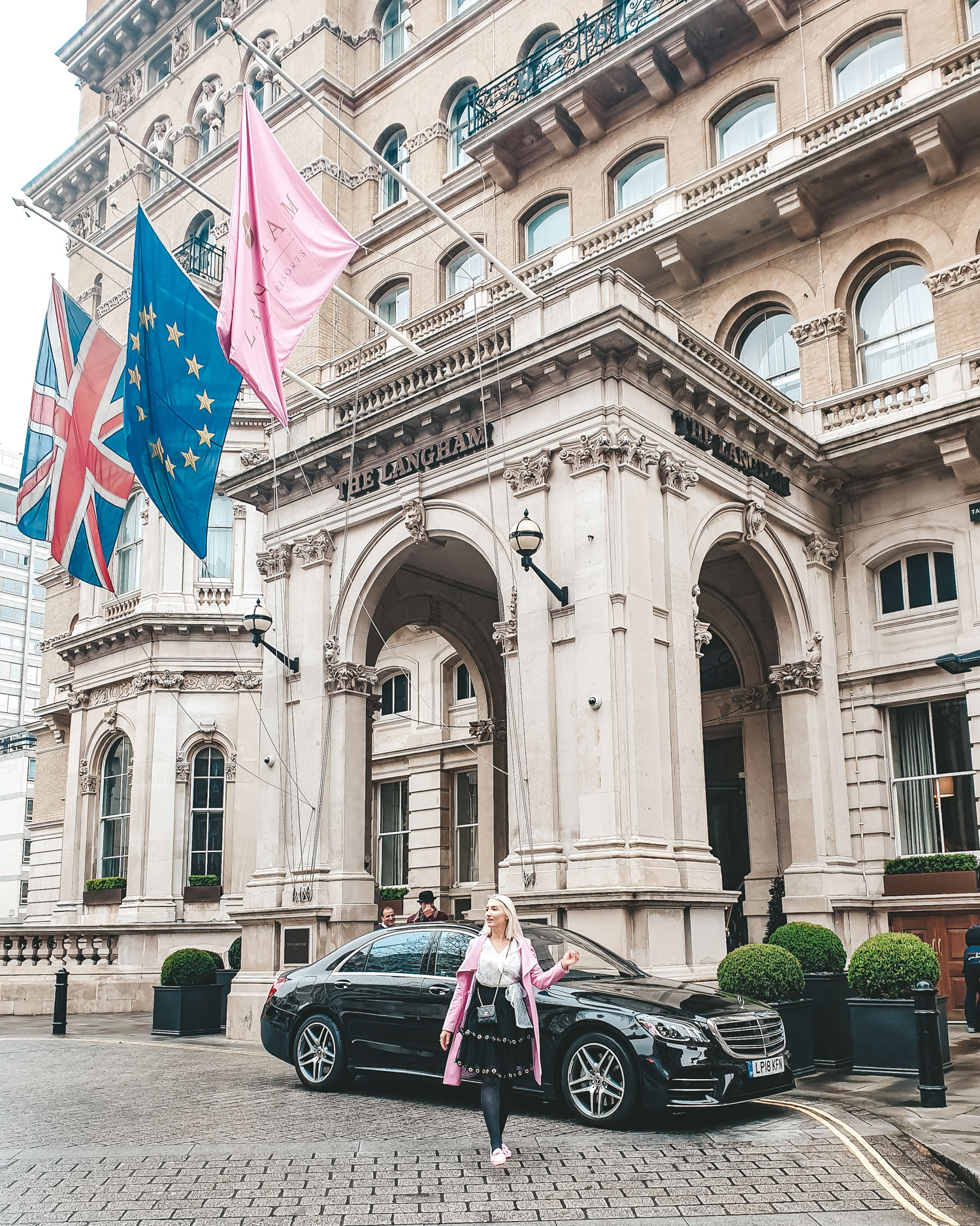 The Langham London entrance