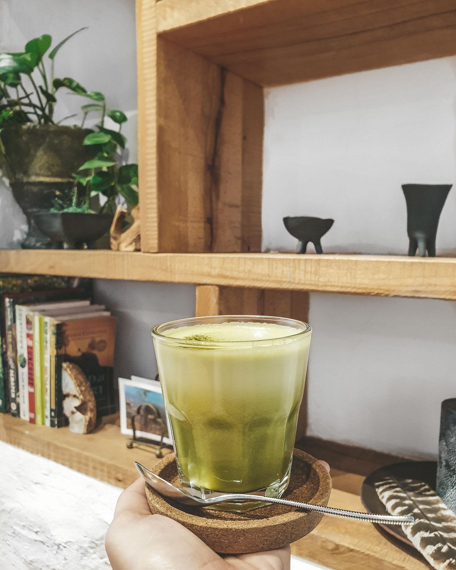 matcha latte at Myocum Dubai
