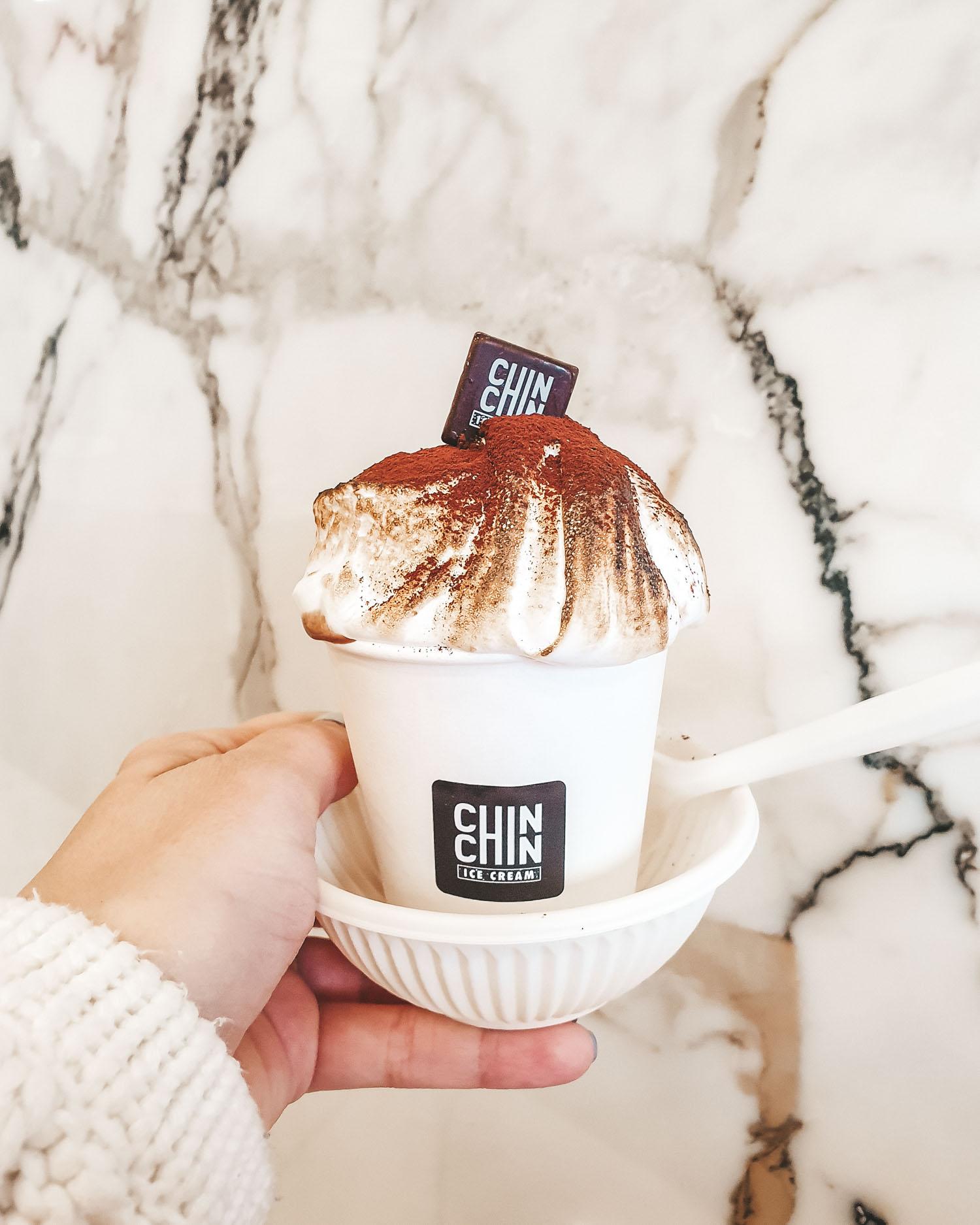 Chin Chin hot chocolate