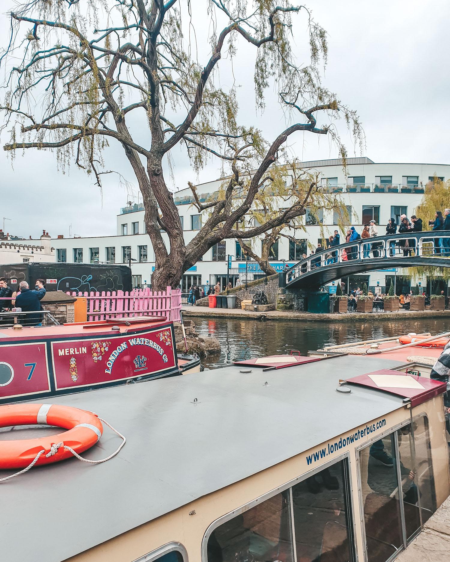 Camden Market London boats