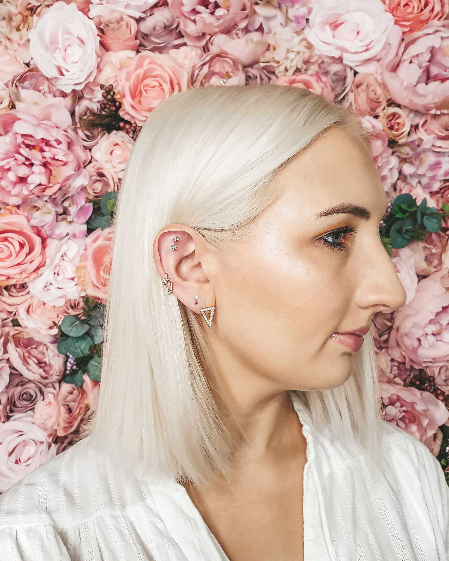 Curated ear piercings from Maria Tash Liberty London