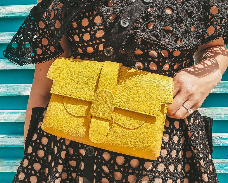 Senreve Aria belt bag color yellow Dandelion