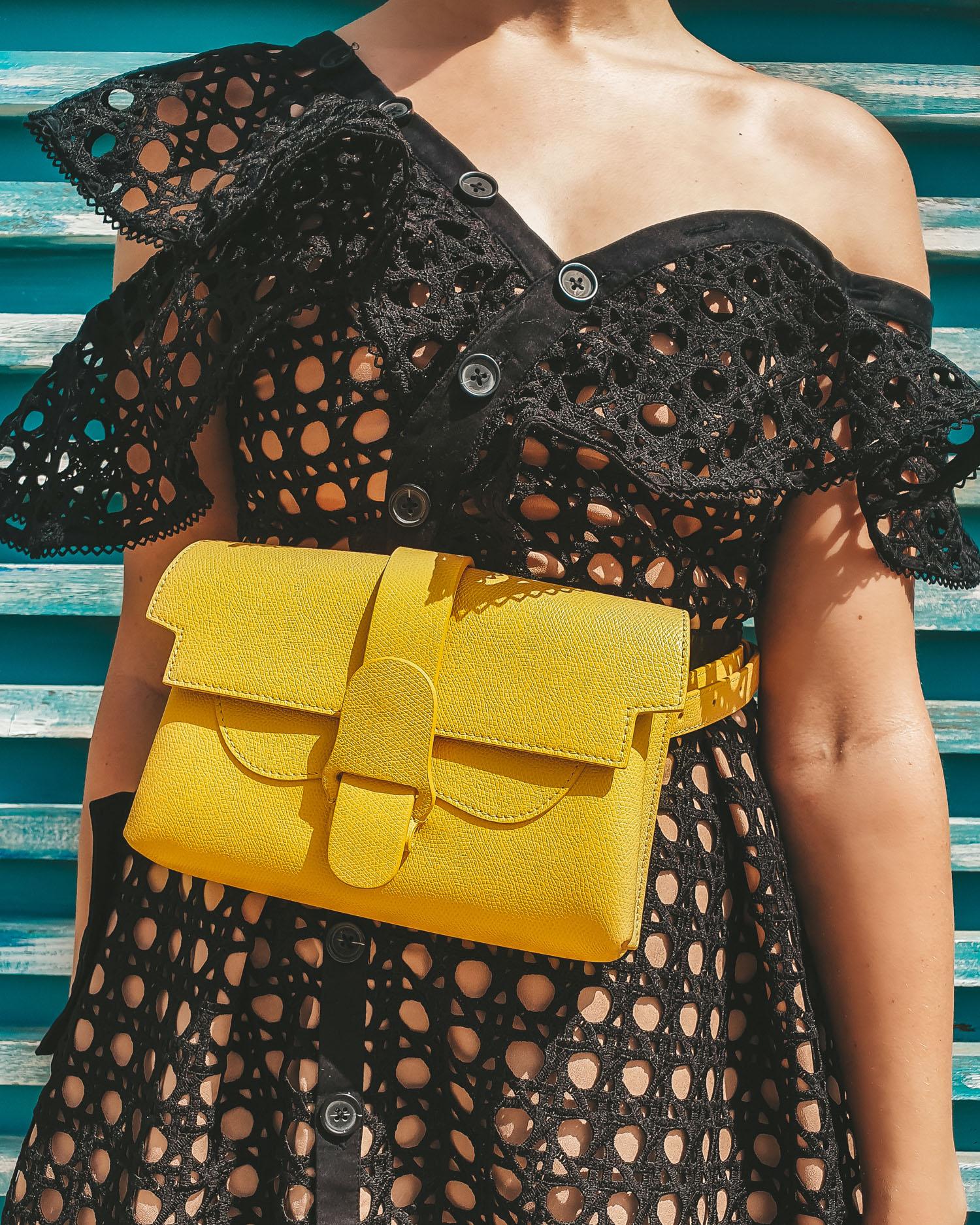 Senreve Aria belt bag yellow Dandelion