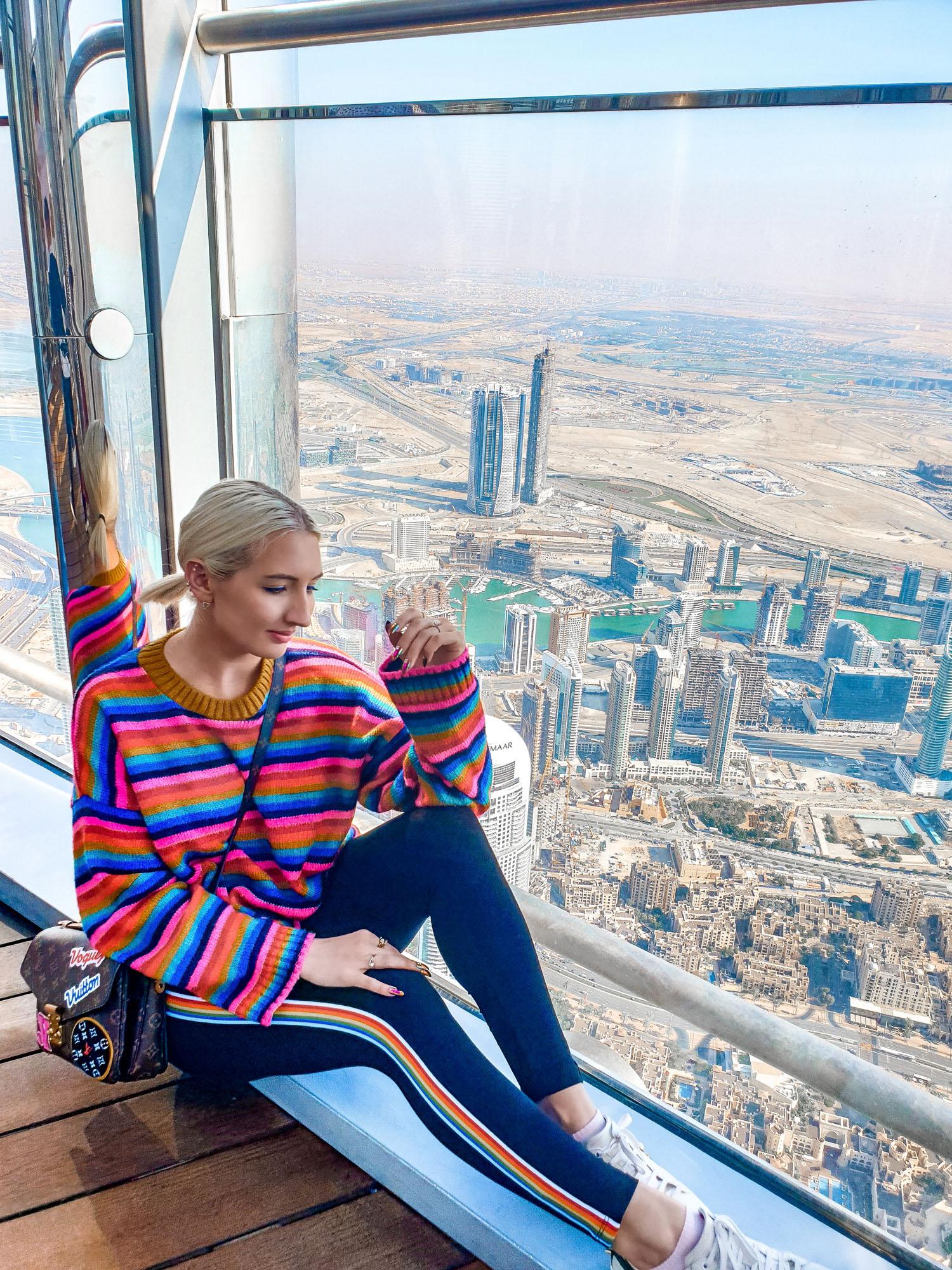 At The Top Burj Khalifa: outdoors