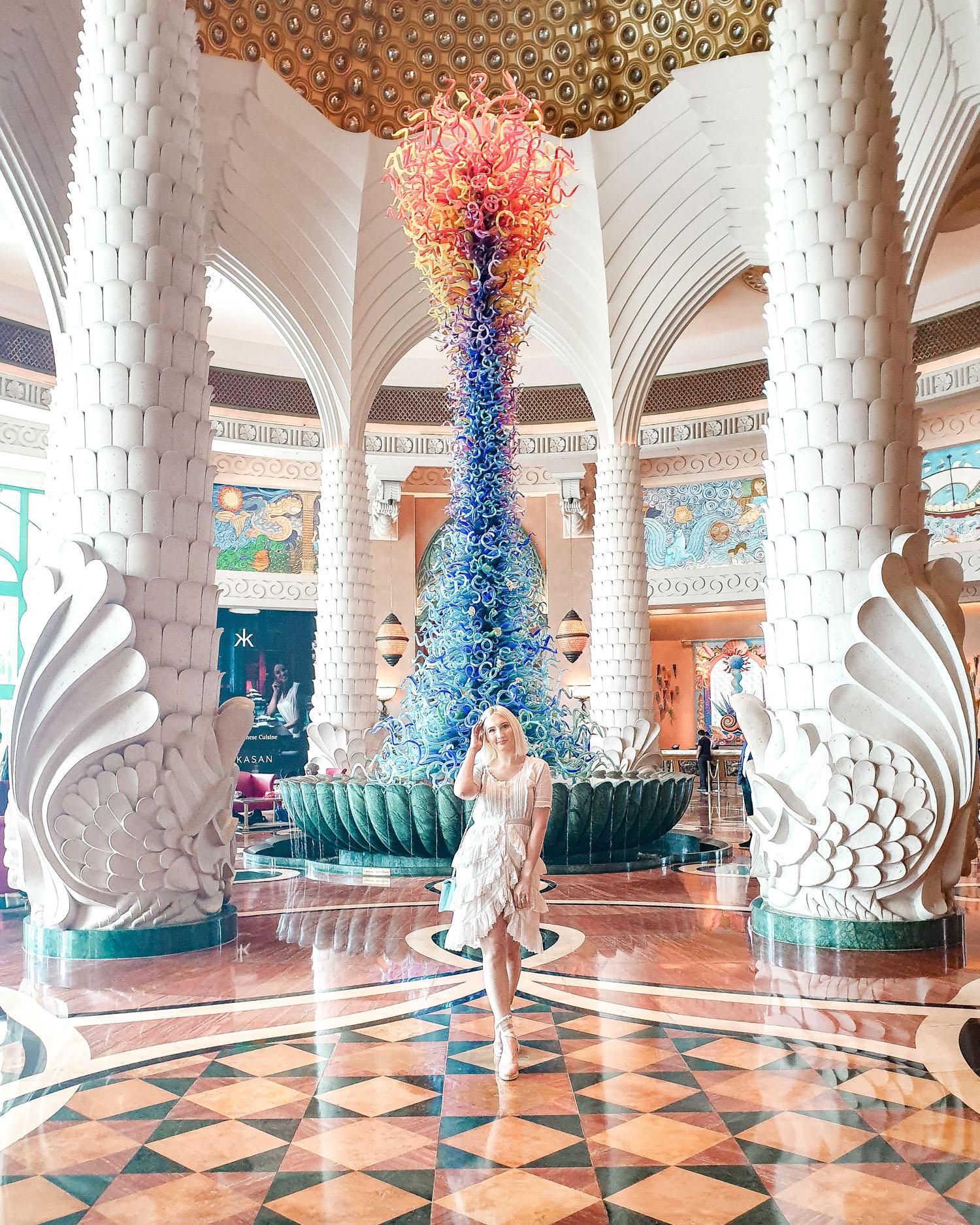The Atlantis hotel lobby