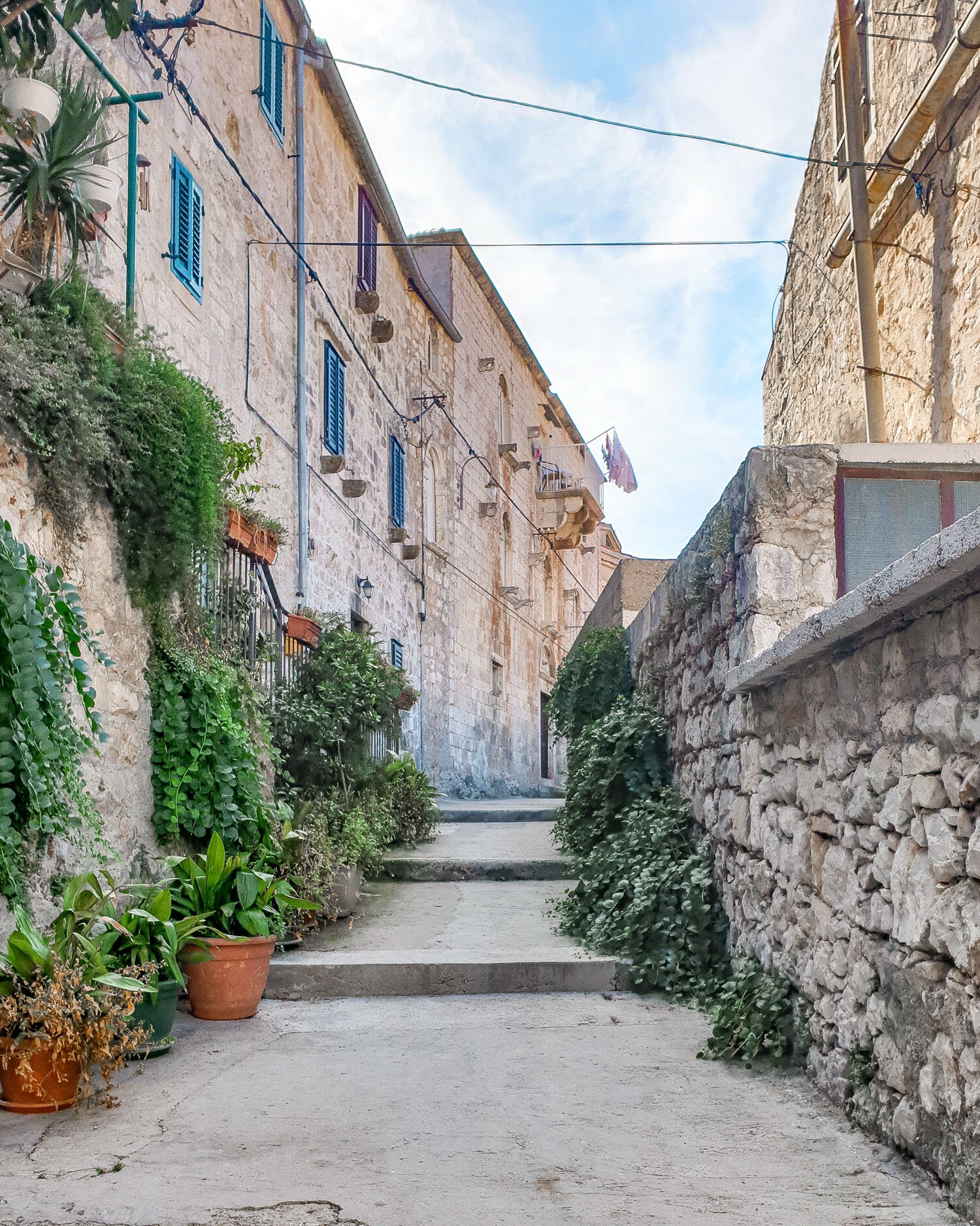 Charming streets of Hvar, Croatia