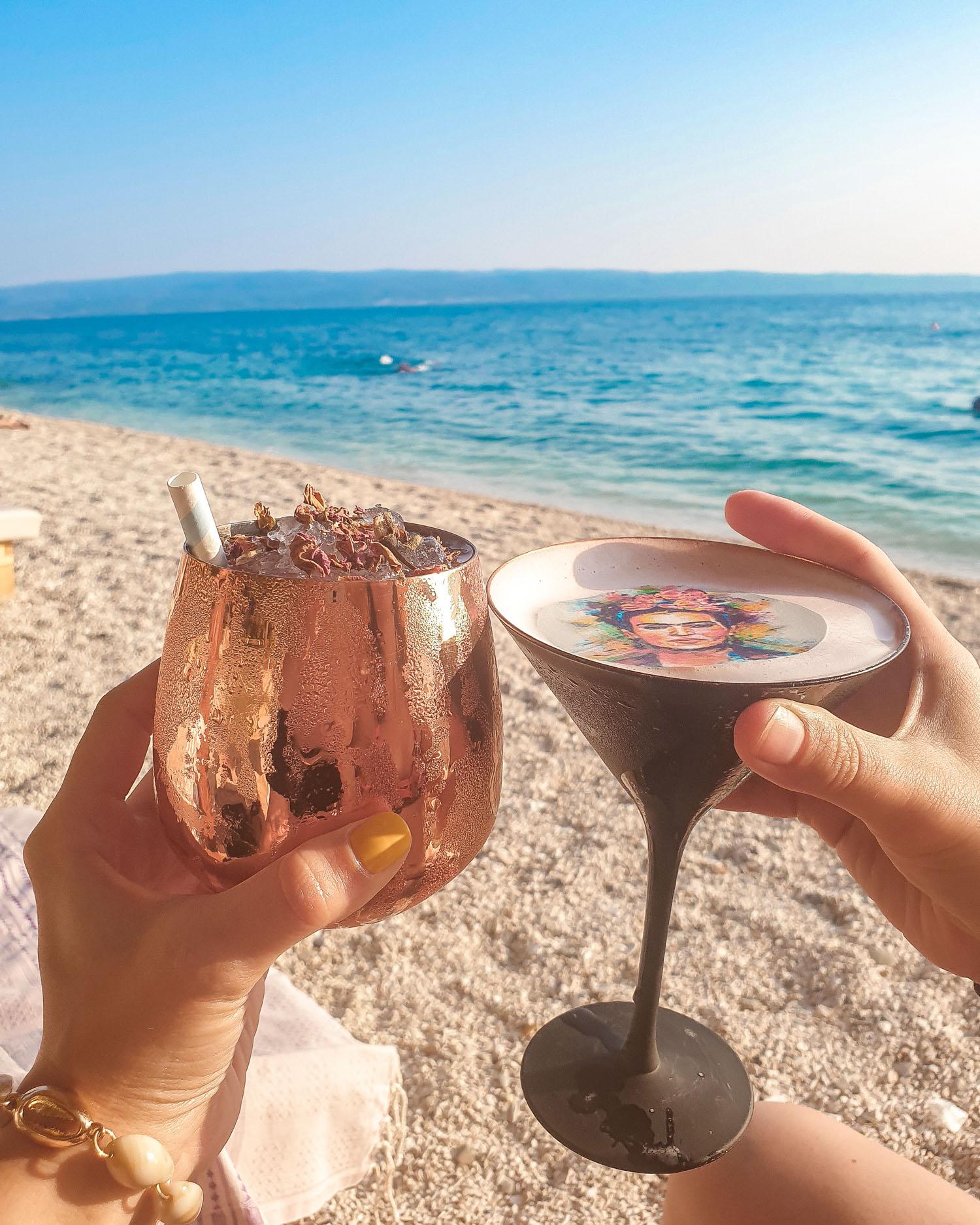Gooshter Beach Club cocktails| Gluten Free Guide Split, Croatia