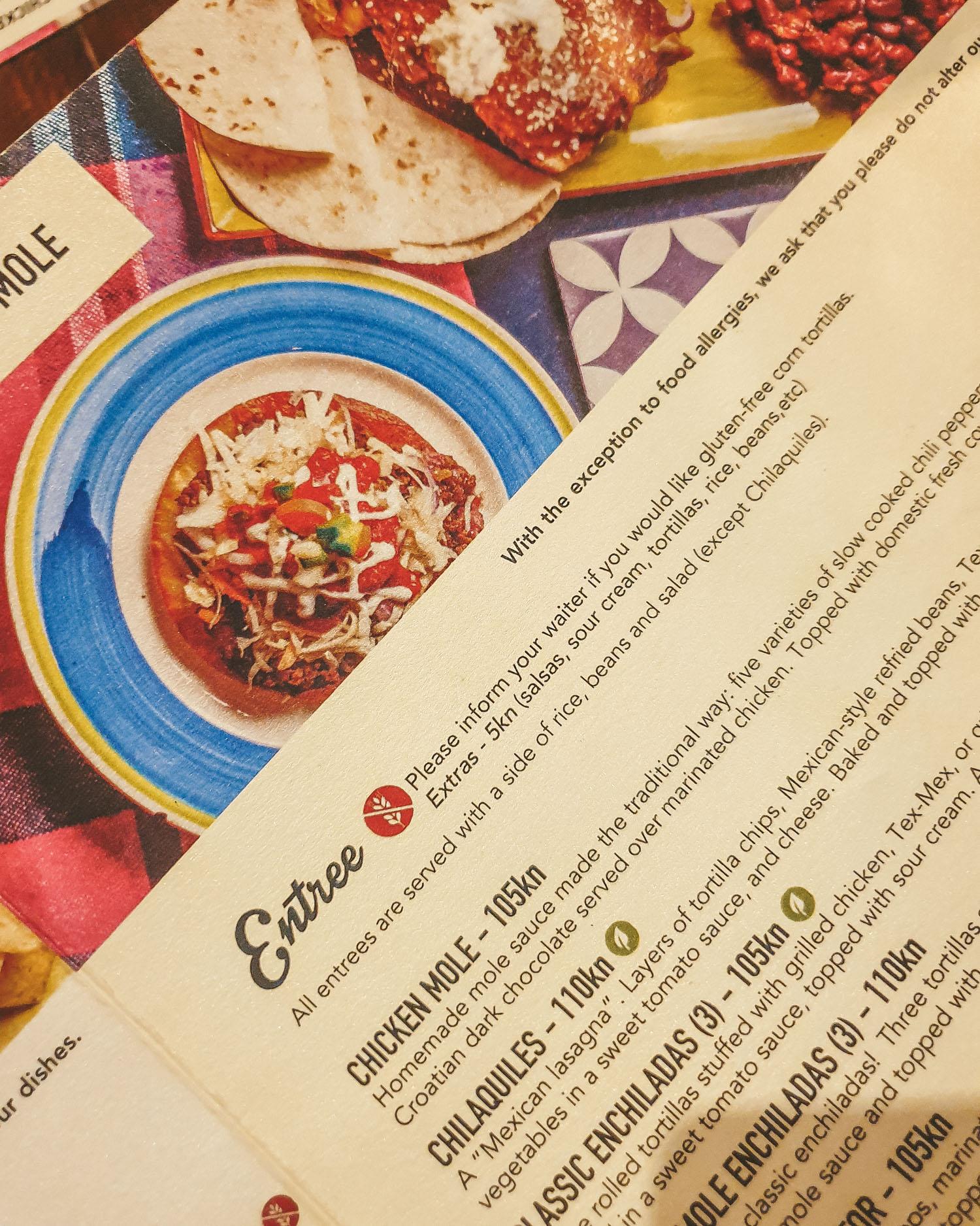 To Je Tako menu| Gluten Free Guide Split, Croatia