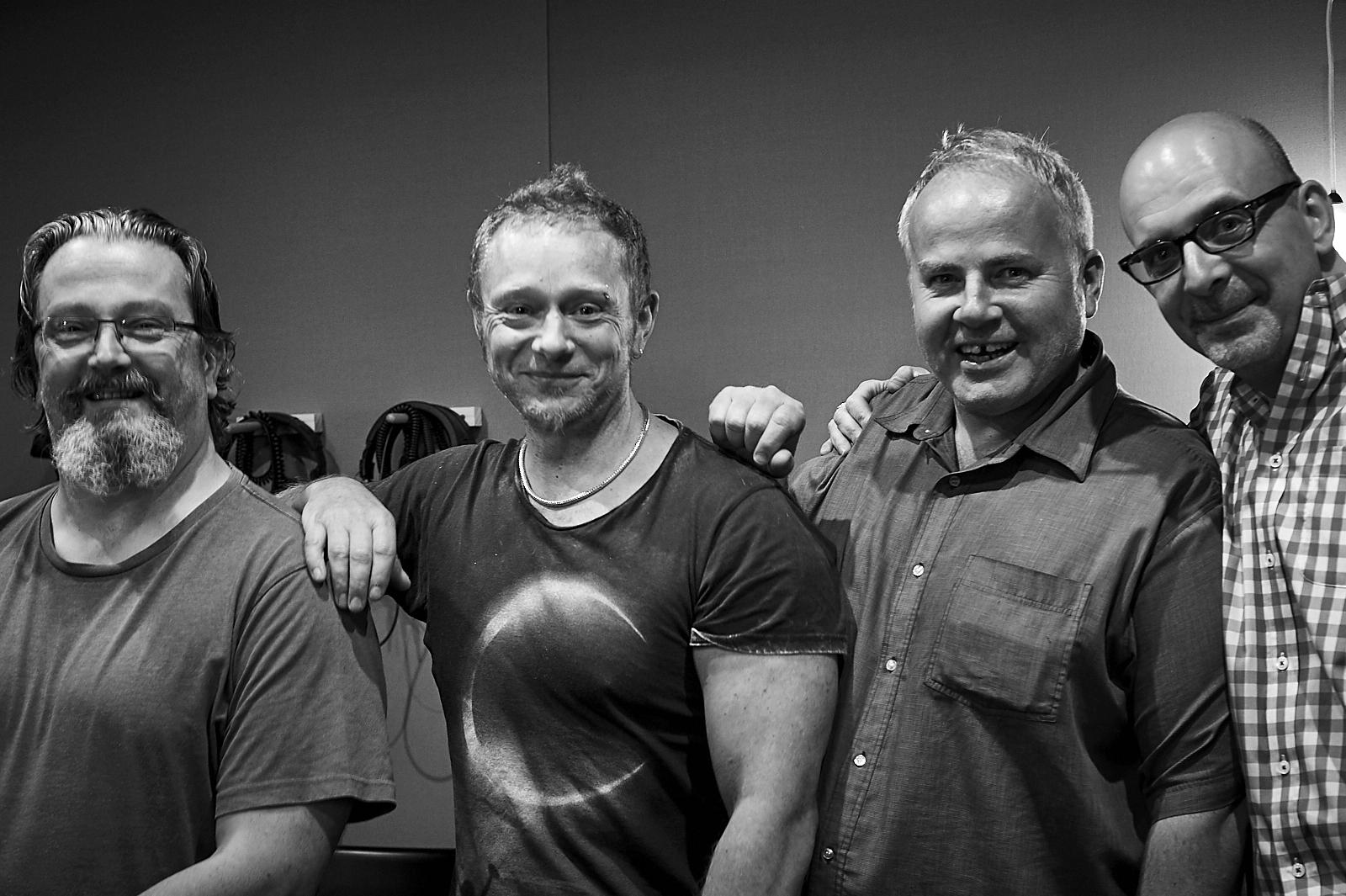 Recording at Pughouse Studios, January 2017 Niko Schauble, Kim May, Mark Fitzgibbon, Me