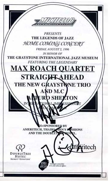 Max Roach, State Theatre Detroit 1996
