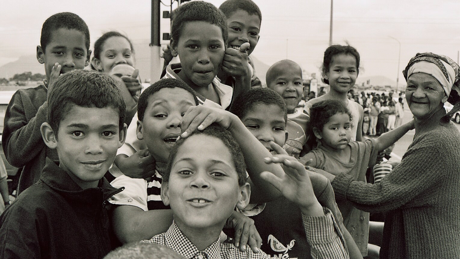 Cape Coloured children from Bonteheuwel township, Cape Town, South Africa. Coloured is considered a neutral term in South Africa to address mixed-race populations.