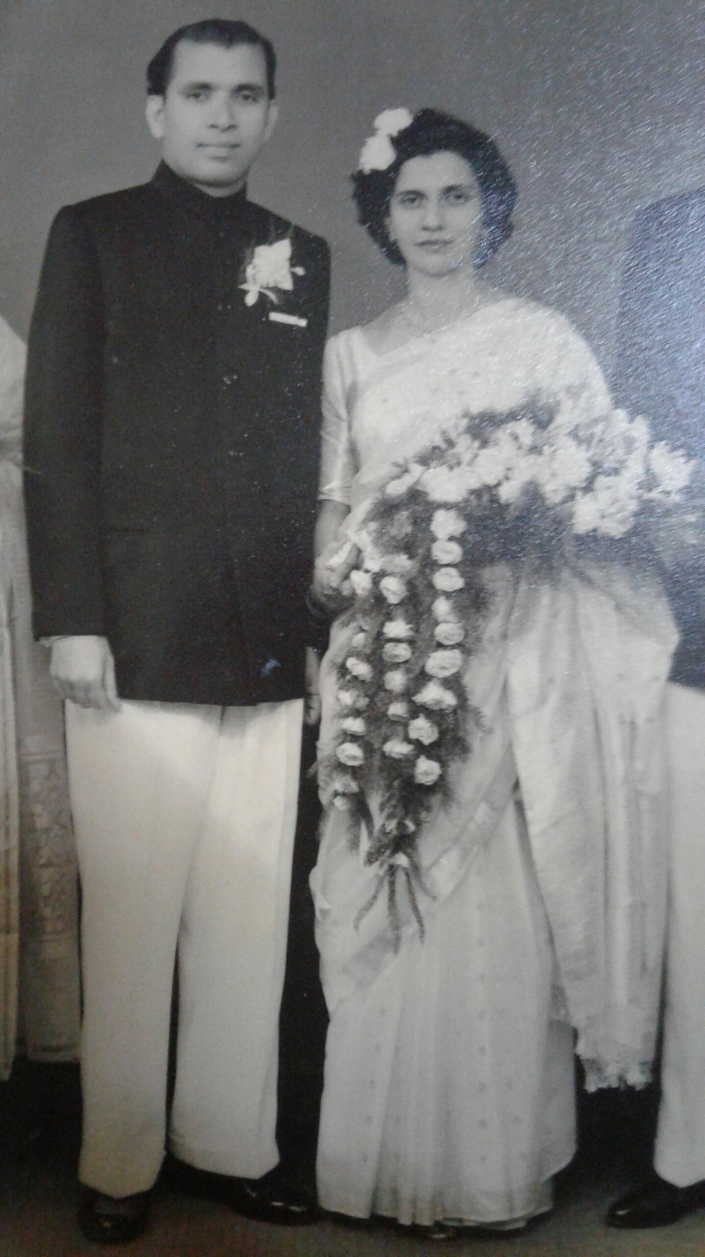 Sarto Esteves and Blanche Dantas on their wedding day, 9 April, 1961. Bombay, India.