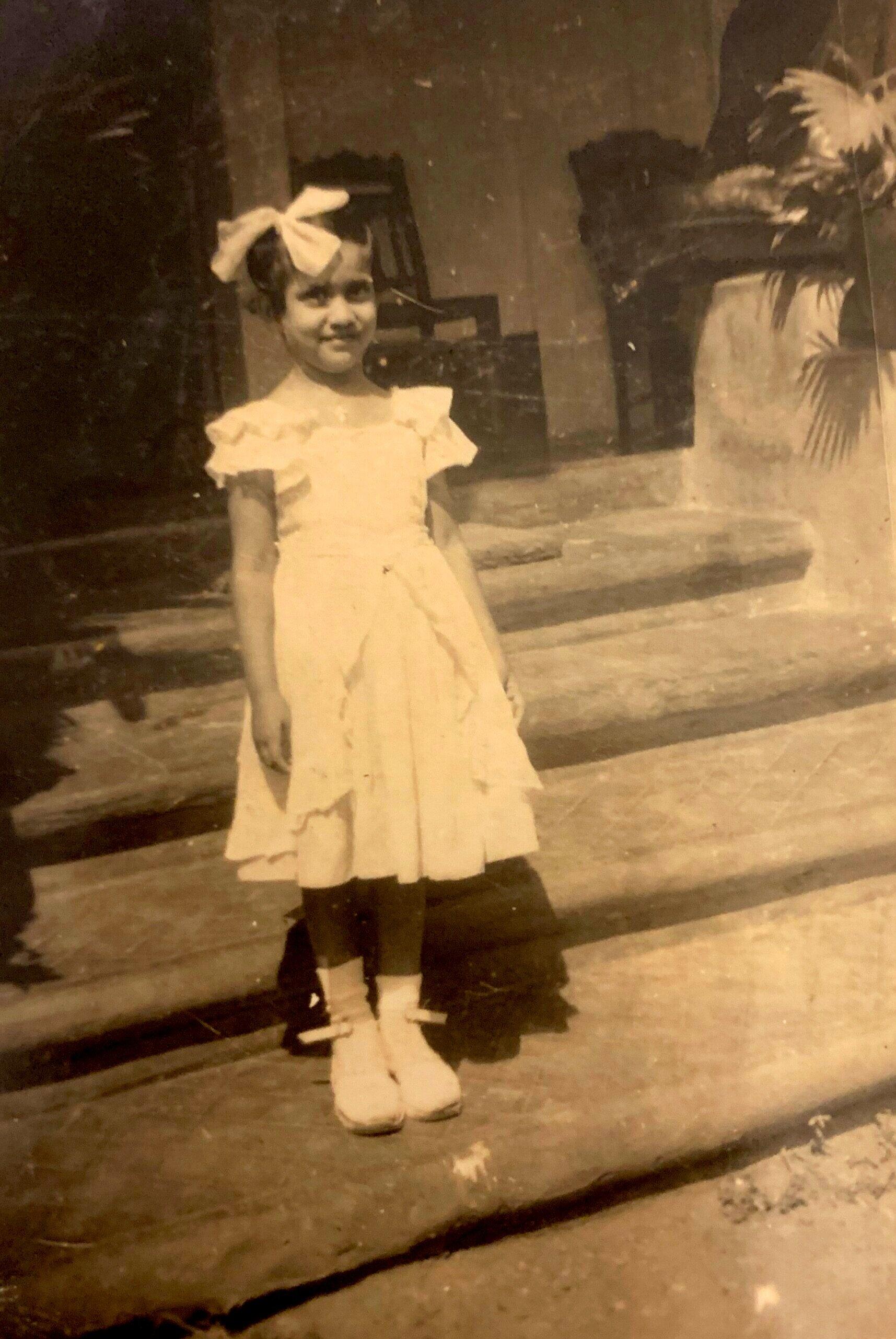 Edith aged four. Goa.