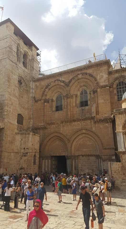 The public square outside the Basilica of the Holy Sepulchre, The Old City, 14 June 2019.