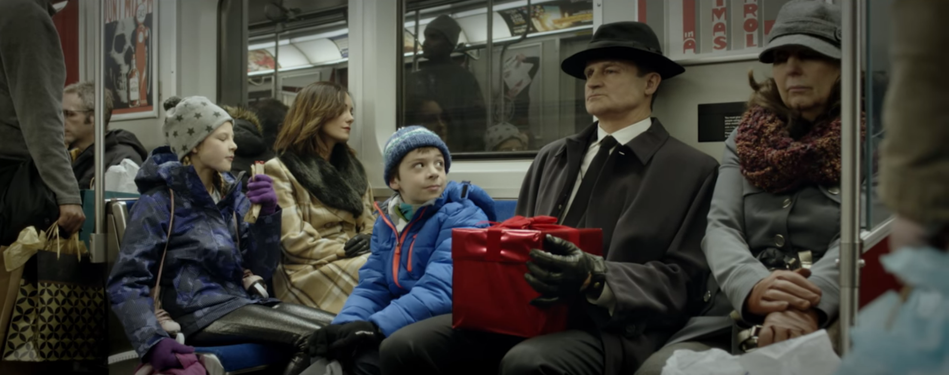 """The Box,"" a family travels on a train and meets a man with an unusual gift."