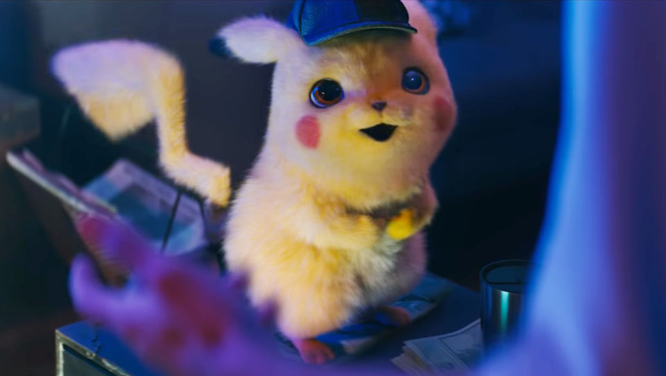 He is not the hero we asked for, but the hero we deserve: a talking Pikachu in a detective cap.