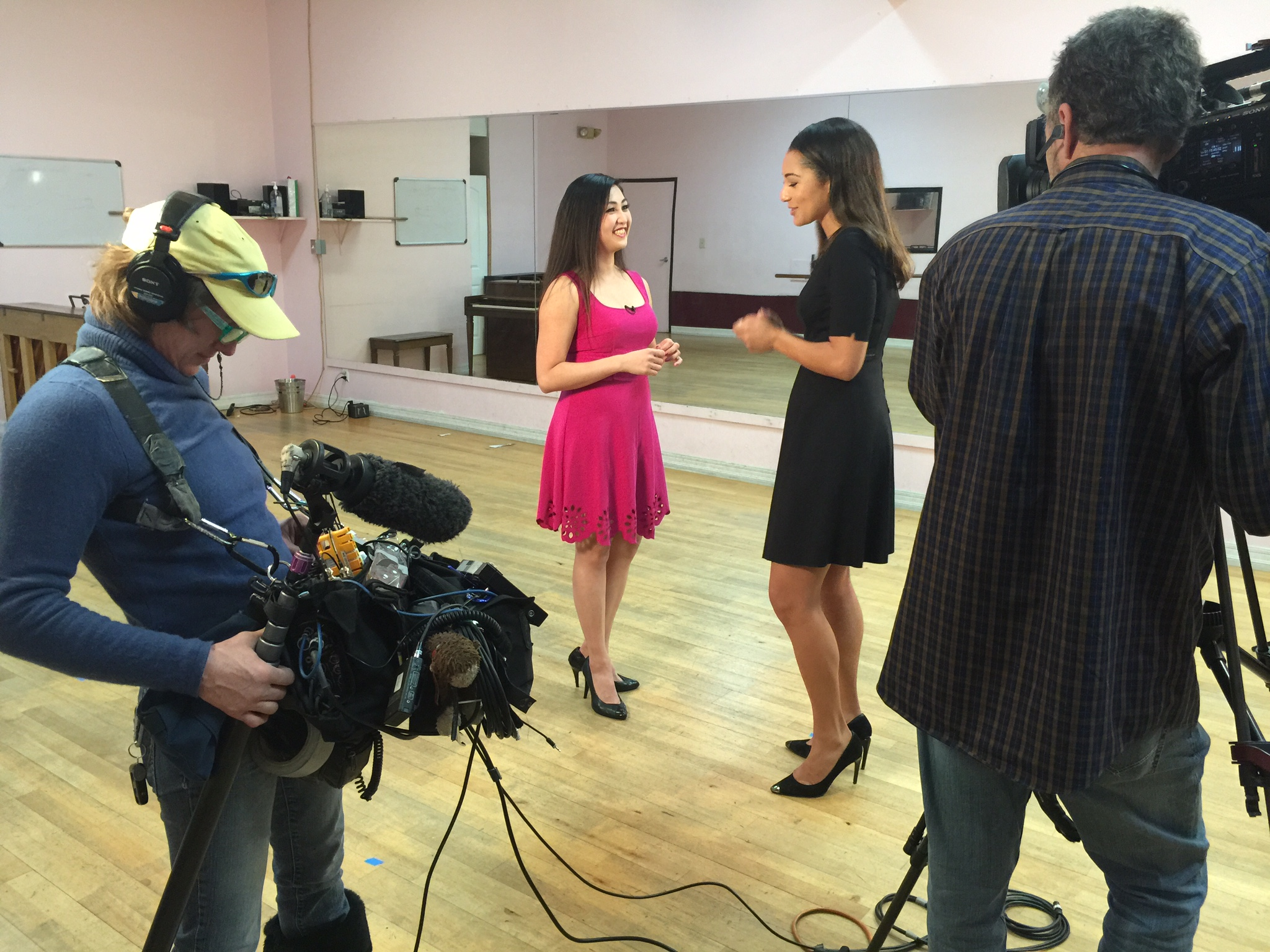 Filming for NBC Today with Morgan Radford