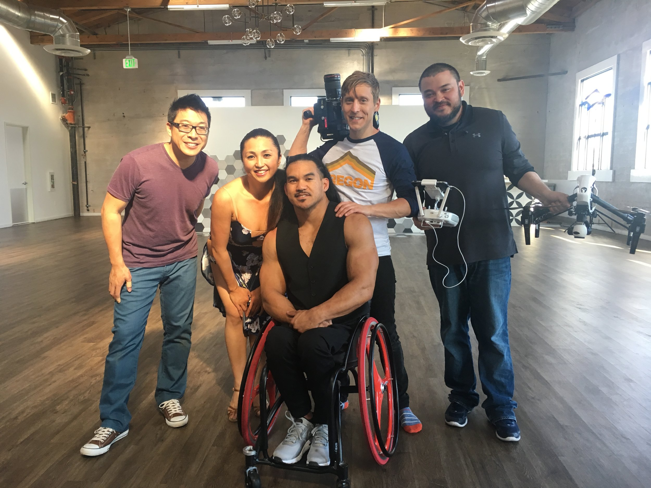 Behind the scenes with the amazing storytellers of  Only Today : Raymond Tsang, Zippy Etzel, Zac Arenas, and Joyce Tsang (not pictured)