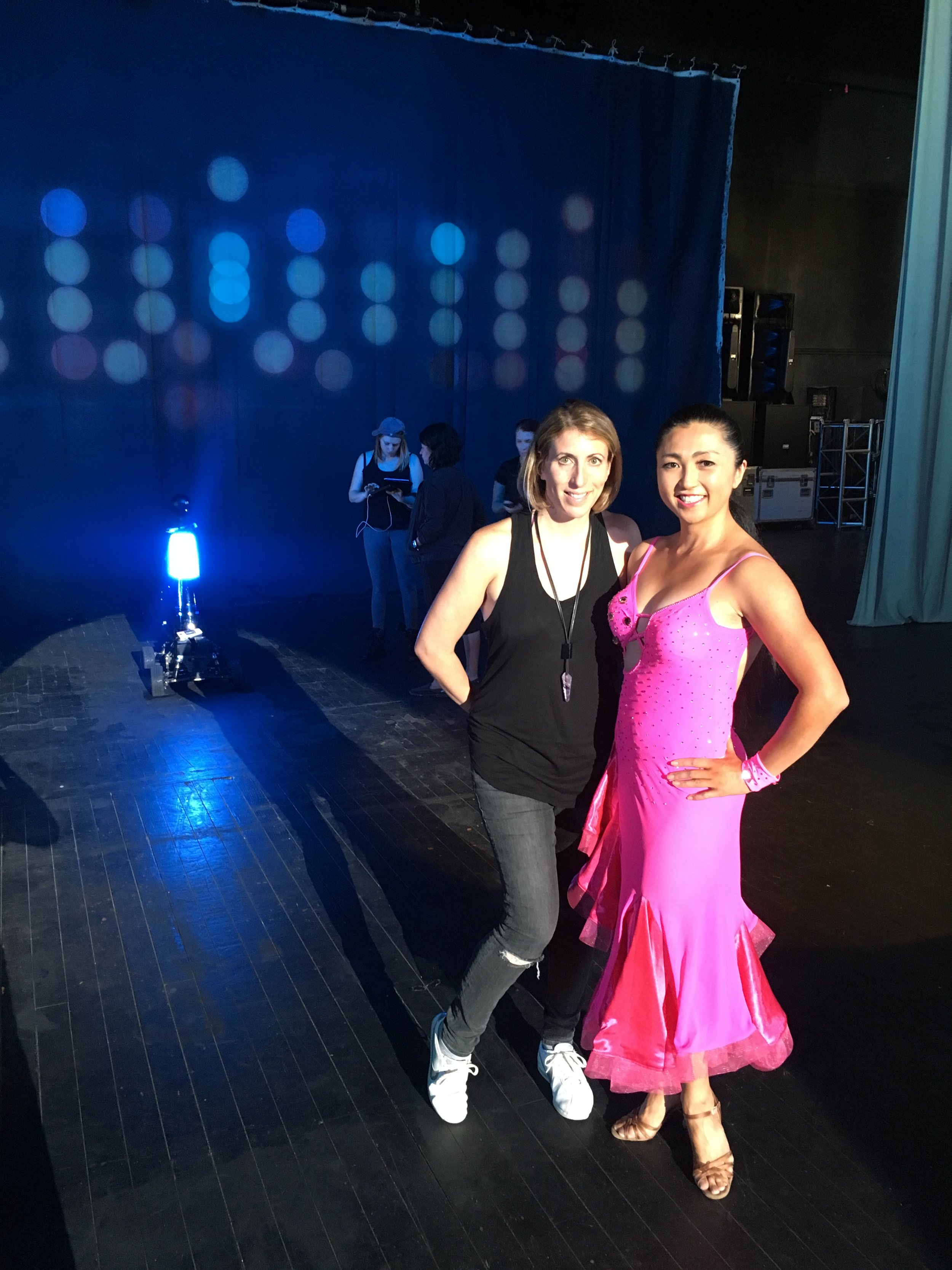 With filmmaker Jess Kantor