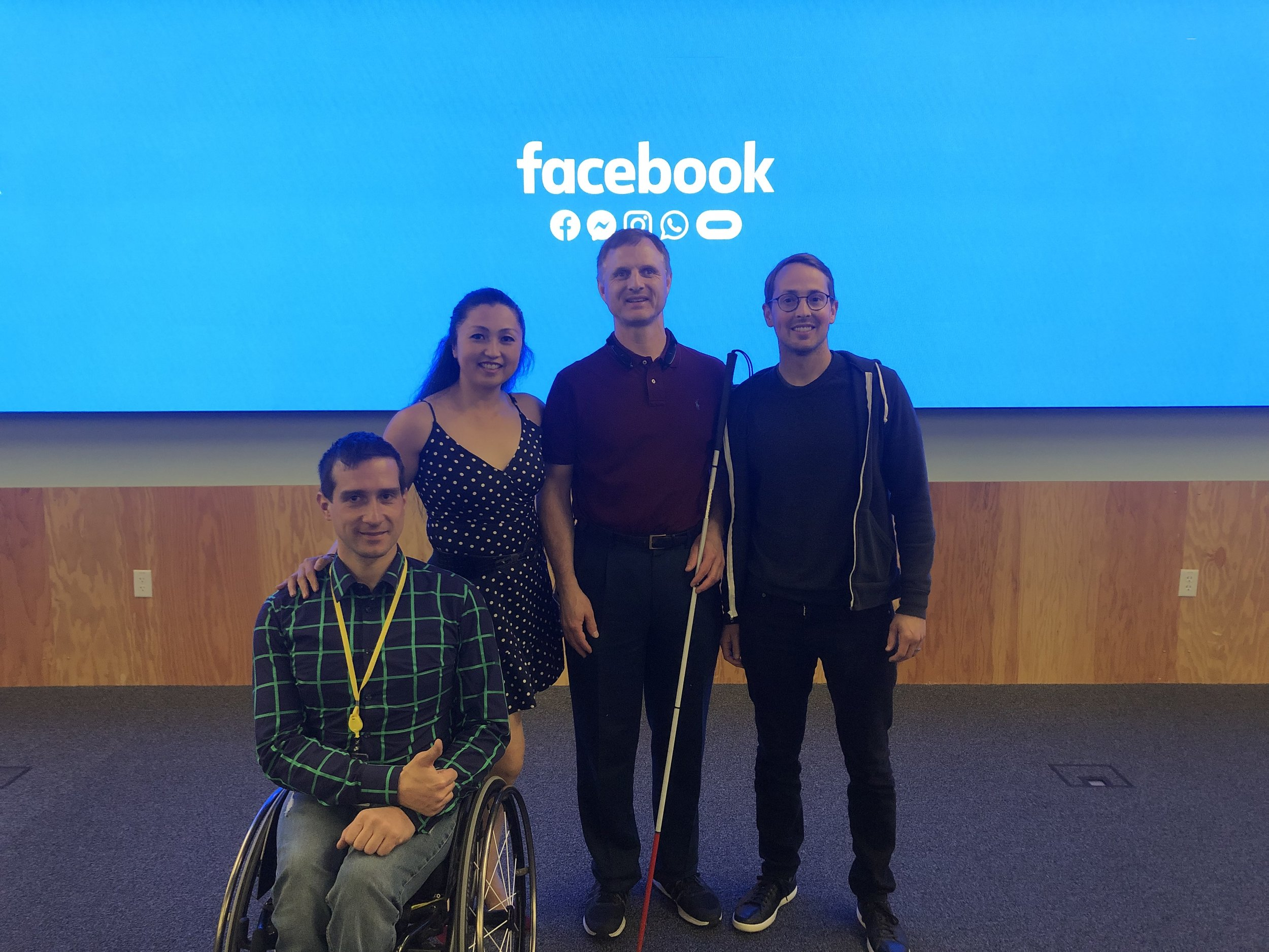 Piotr, me, Matt King (Engineer), Jeff Wieland (Founder Accessibility @Facebook)