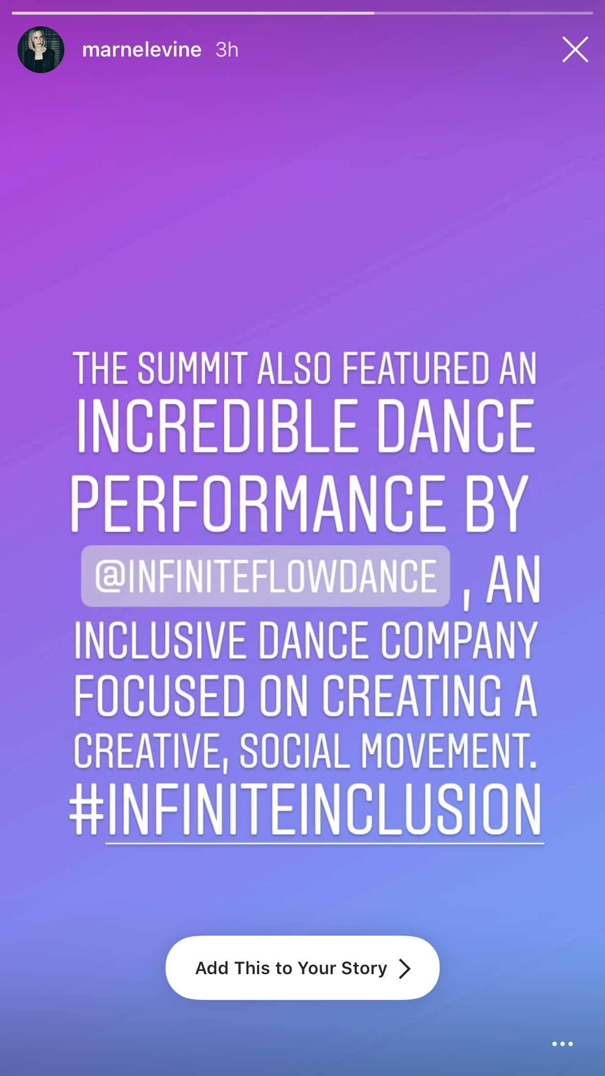 Thank you Marne Levine, COO Instagram for the shoutout.