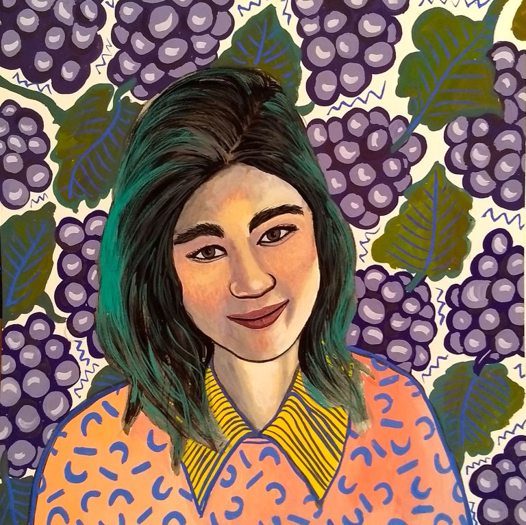 Illustration of Jenny Zhang by the illustrator  Joan Le May . Image from  Lenny Letter .