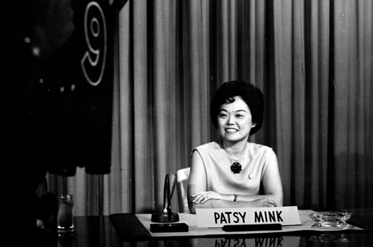 Patsy Mink, U.S. Congresswoman and the primary author of Title IX. Check out   Ahead of the Majority  to learn more about Mink's story.