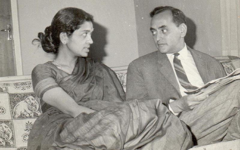 Feminist economist Devaki Jain with her husband, L.C. Jain in 1960s. Photo found on  devakijain.com .
