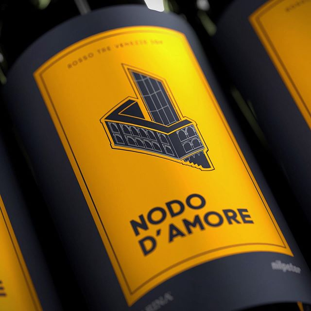 A wine label design for Nodo D'Amore, based on Shakespeare's Romeo & Juliet. Instead of illustrating the typical scene of the infamous story, I decided to focus on the setting. Pictured on the label, is Juliet's actual balcony in Verona, Italy - where it all began.  _  #design #graphicdesigner #branding #creative #architecture #urbanism #designer #graphicdesign #brandingdesign #color #pantone #type #typeface #mockup #brandingidentity #problemsolving #modern #multidisciplinary #graphicidentity #logo #brooklyn #nyc #wayfinding #georgelittledesign