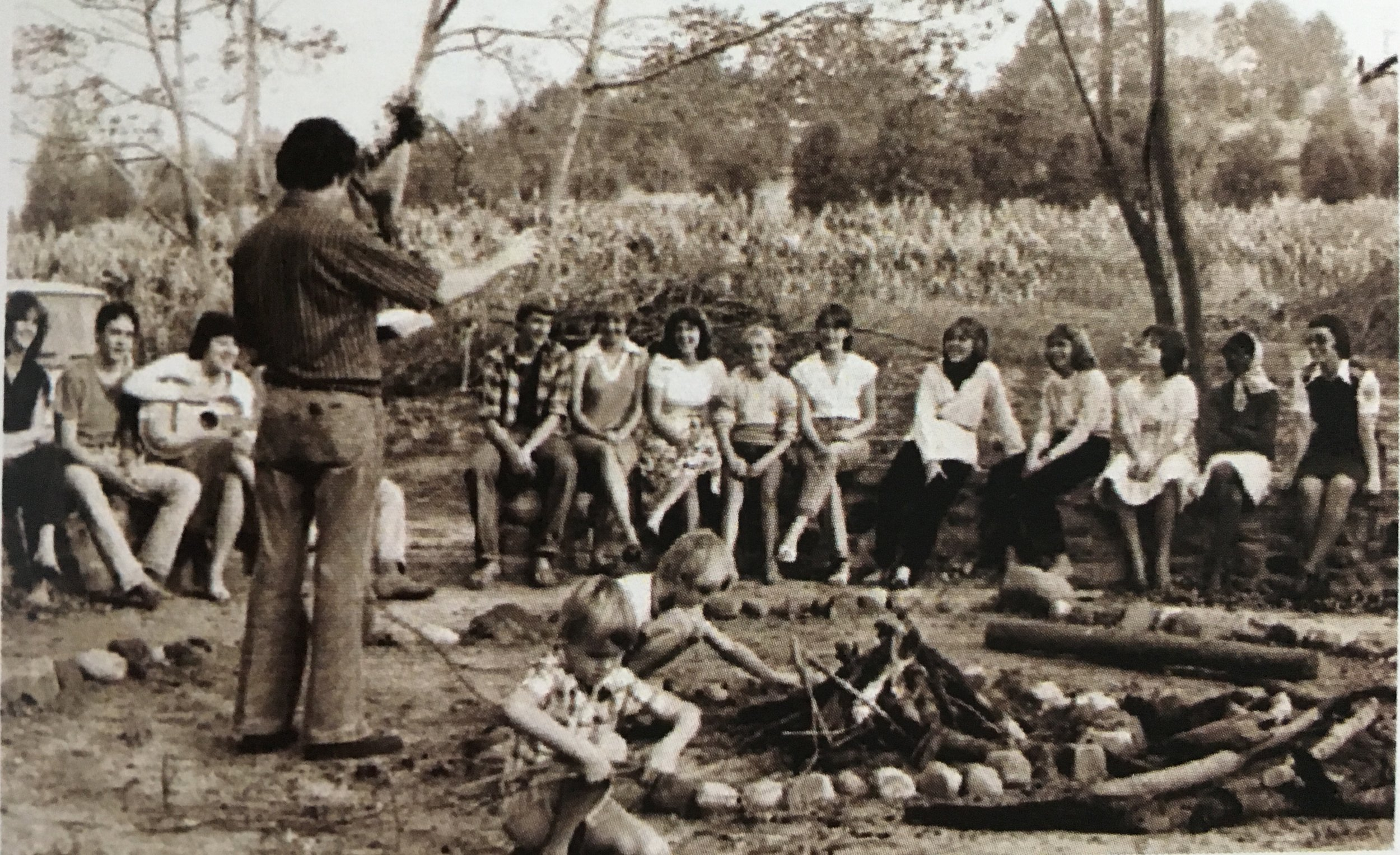 """""""We cut a path down and built the fire circle and break. We held our first Easter sunrise service here."""""""