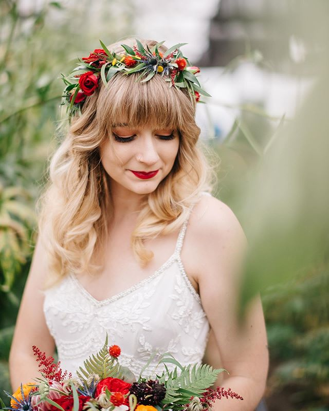 Katelyn, in the greenhouse. . . . #bride #wedding #weddingphotographer #virginiawedding #virginiaweddingphotographer #bridalportrait