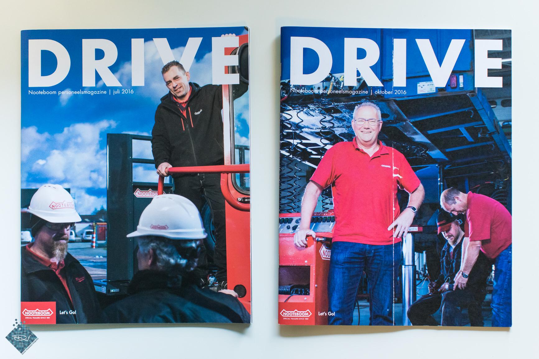Editie 1 en 2 van DRIVE, links het terloopse beeld.