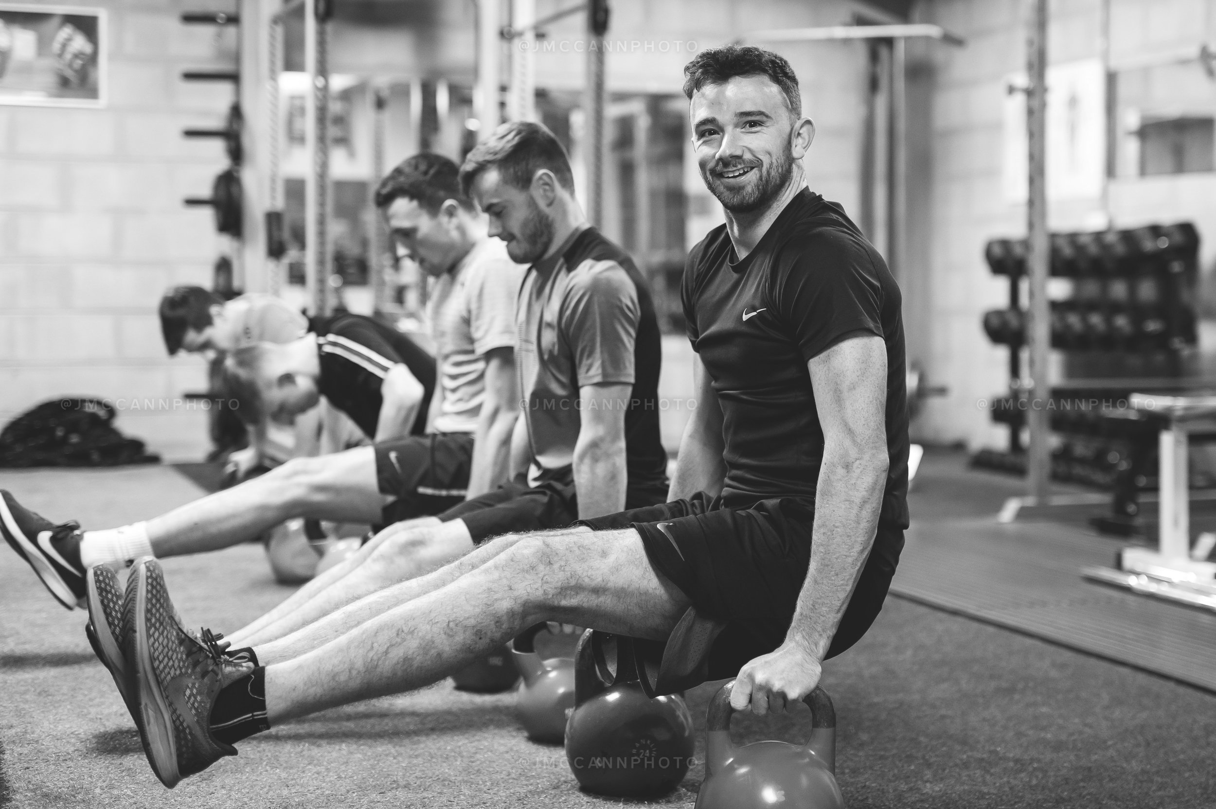 Glenn obviously enjoying his training.