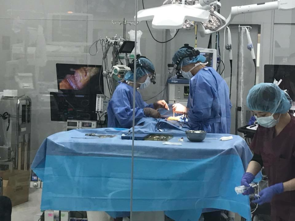 Operating theater at the Jasmine Clinic in Japan