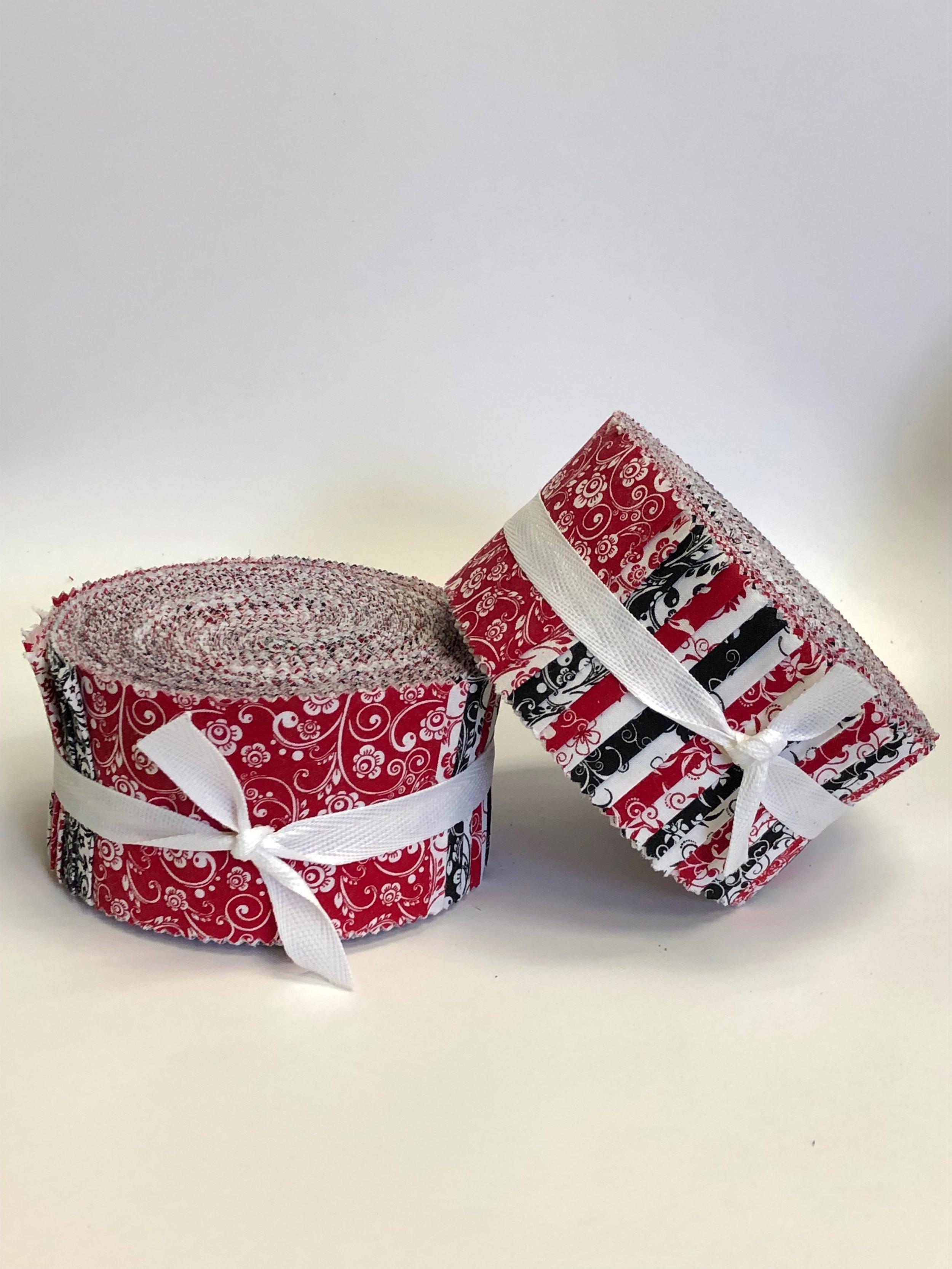 Santee Spirals:  Black & Red