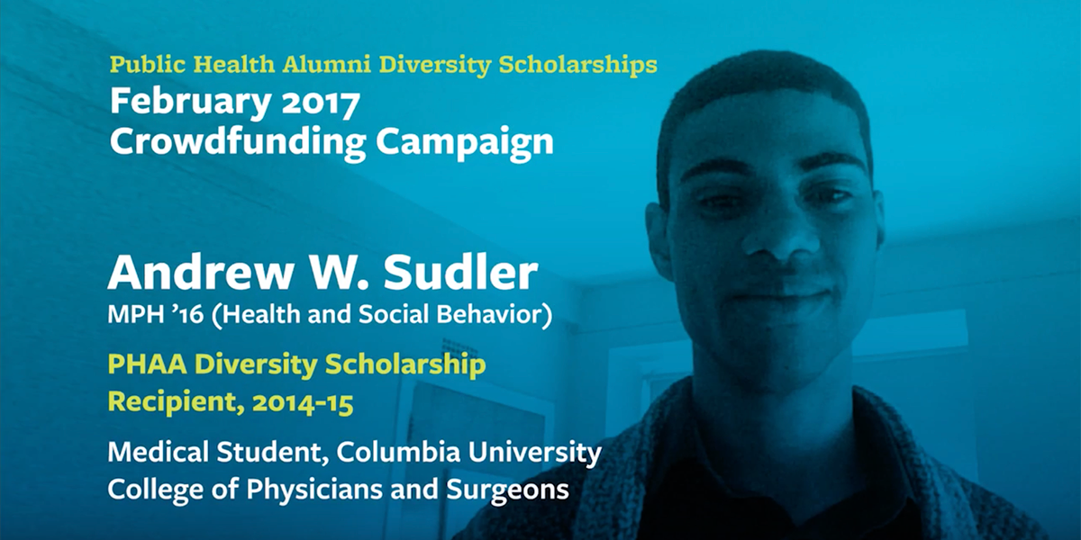 CLICK PHOTO TO LAUNCH VIDEO  Former Diversity Scholarship recipient Andrew W. Sudler