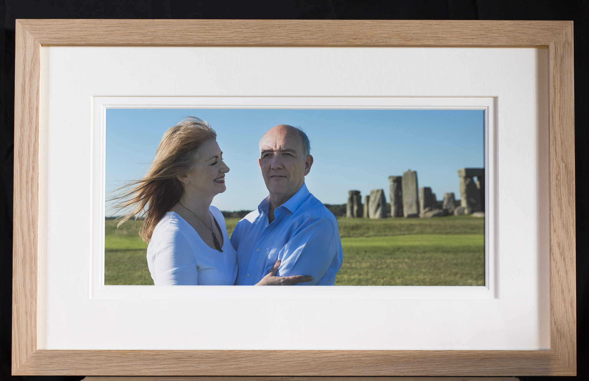 """Bespoke Panorama fine art print 18 x 8.5"""" on heavyweight Fotospeed cotton rag in a solid oak frame 24 x 14.5"""" and 27mm moulding, with a contemporary triple Lopez mount: £195"""