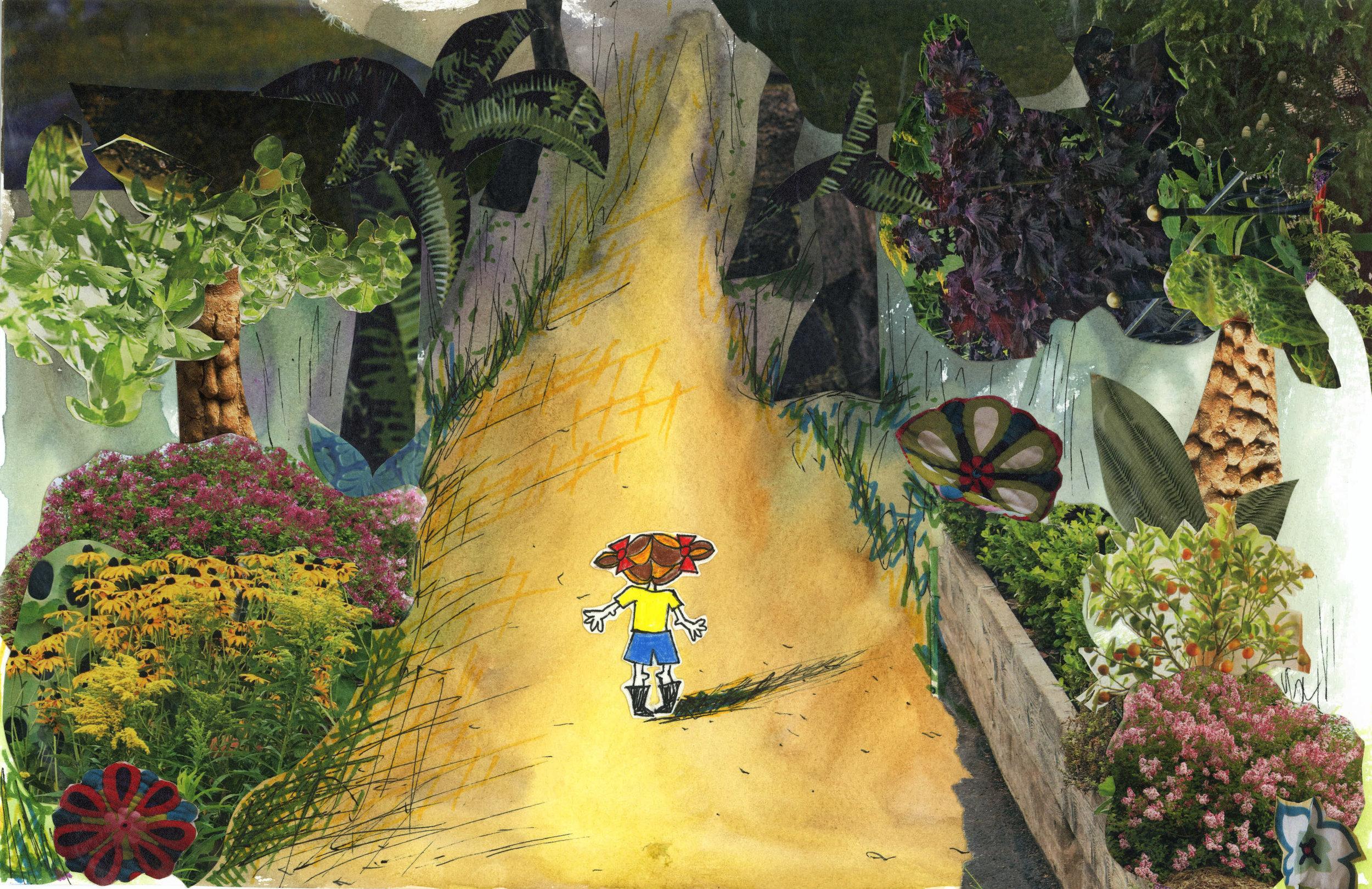 Lula entering woods
