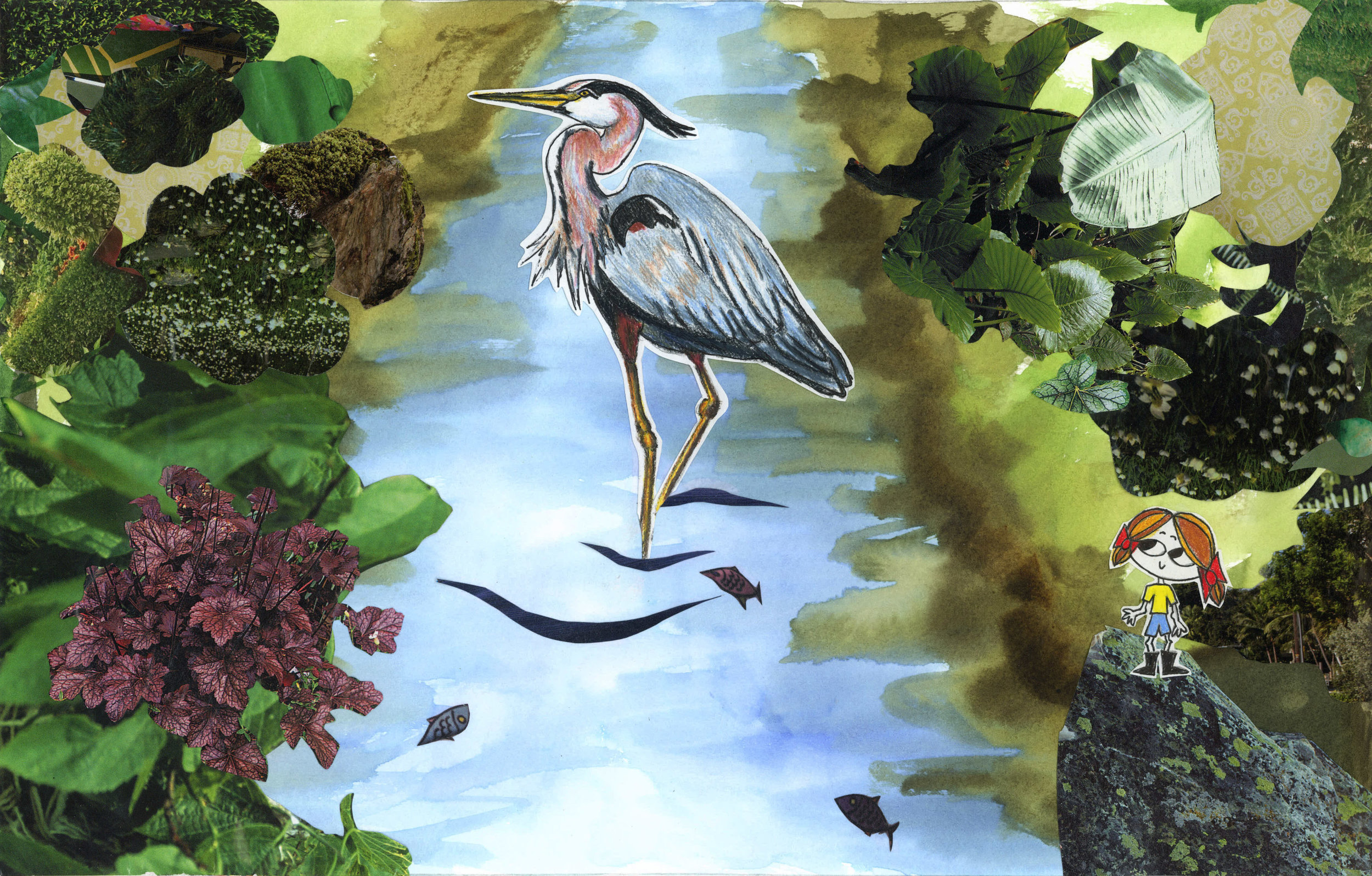 Lula with blue heron