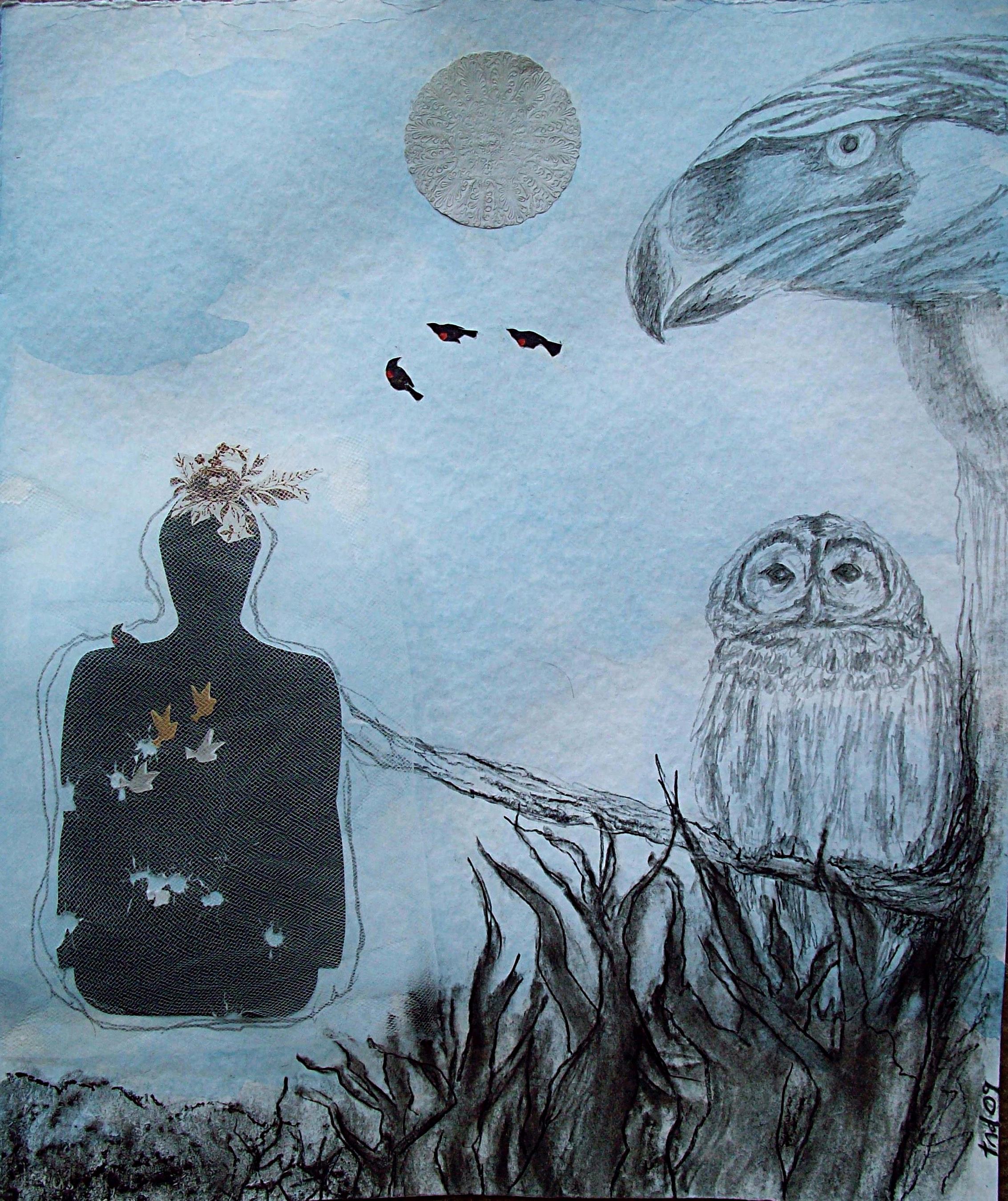 self portrait with birds