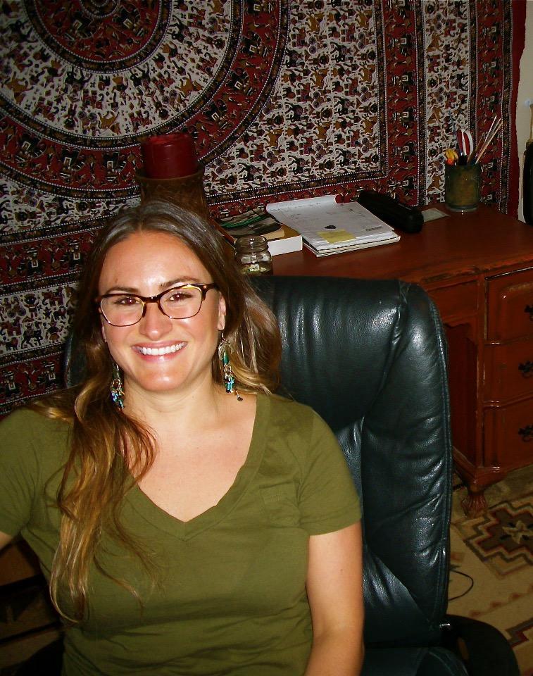 Danielle in her studio, East Nashville, TN, 2014