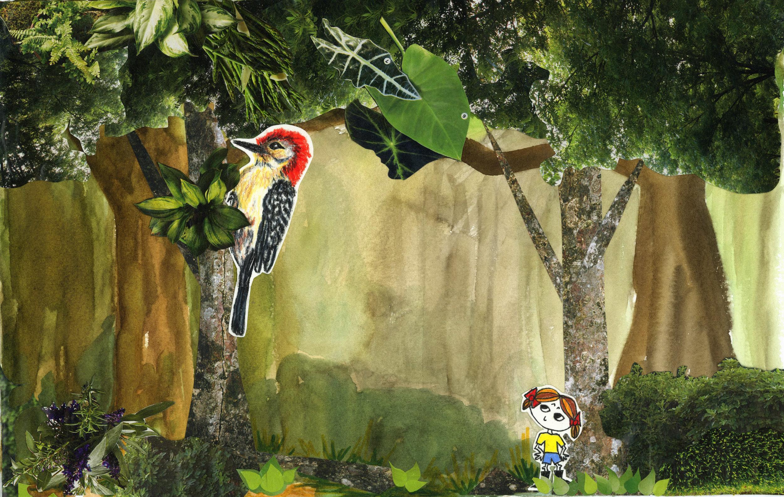 Lula with woodpecker