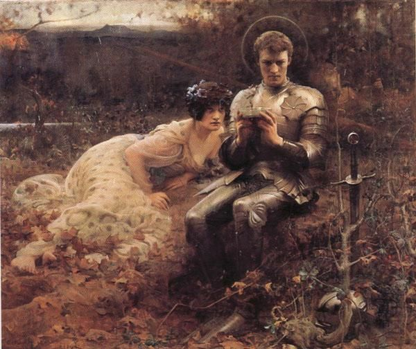 The Temptation of Sir Percival , Arthur Hacker