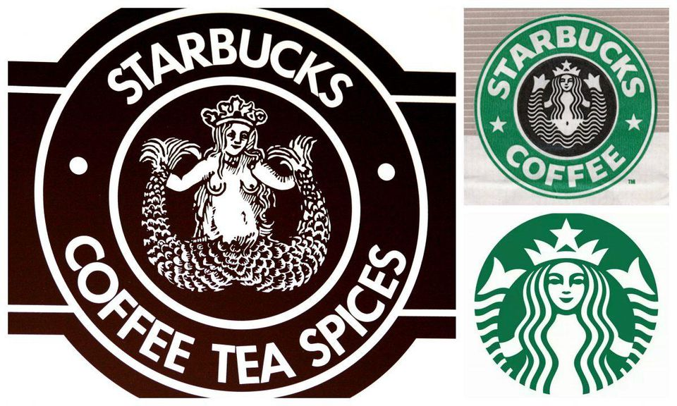 Melusine's dual nature on you coffee cup: the evolution of the Starbucks logo