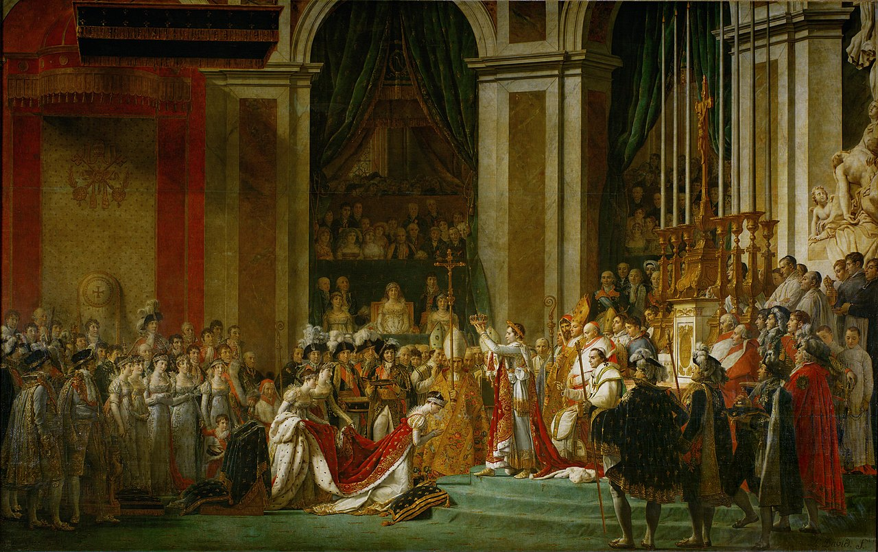 The Coronation of Napoleon , by Jacques-Louis David