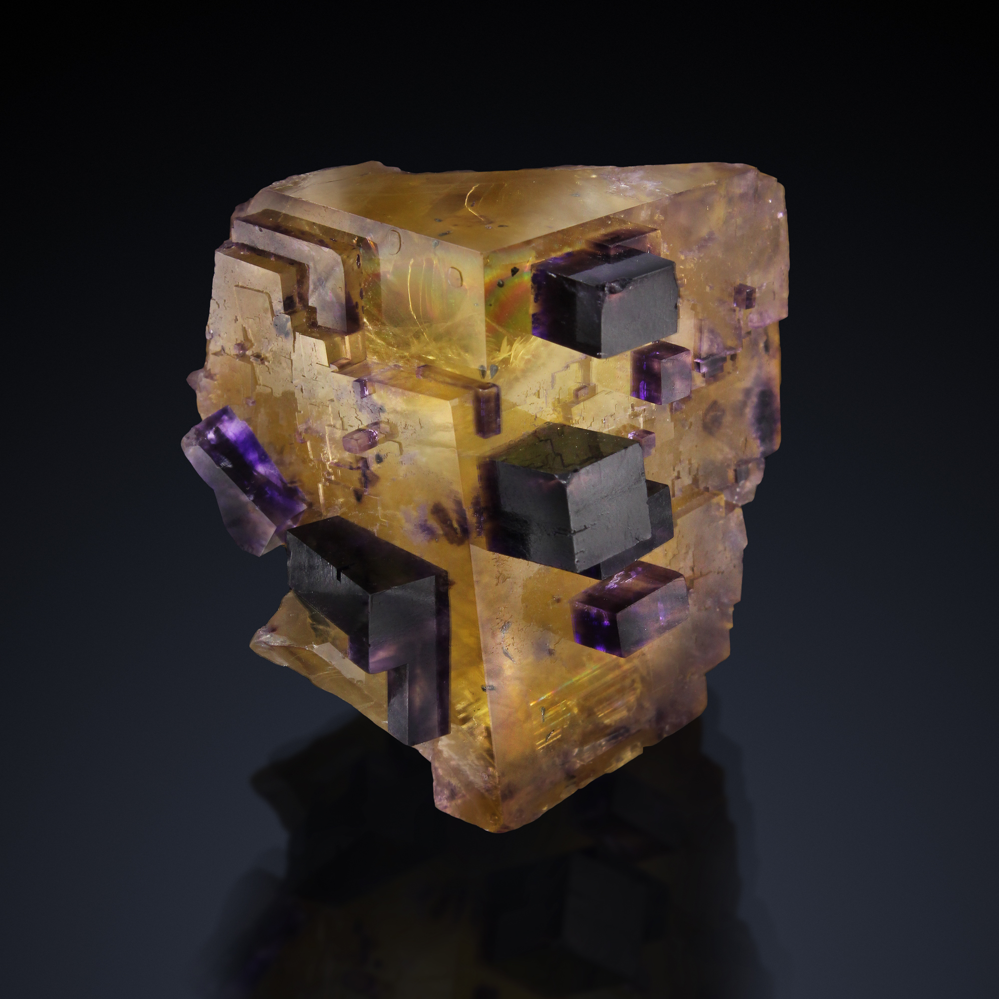 FLUORITE - Victory Mine, Cave-in-Rock, Cave-in-Rock Sub-District, Hardin Co., Illinois, USA   -Private collection