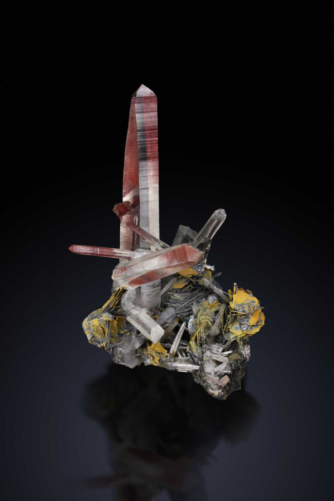 QUARTZ WITH HEMATITE - Jinlong Iron mine, Longchuan, Guandong, China   -Private collection