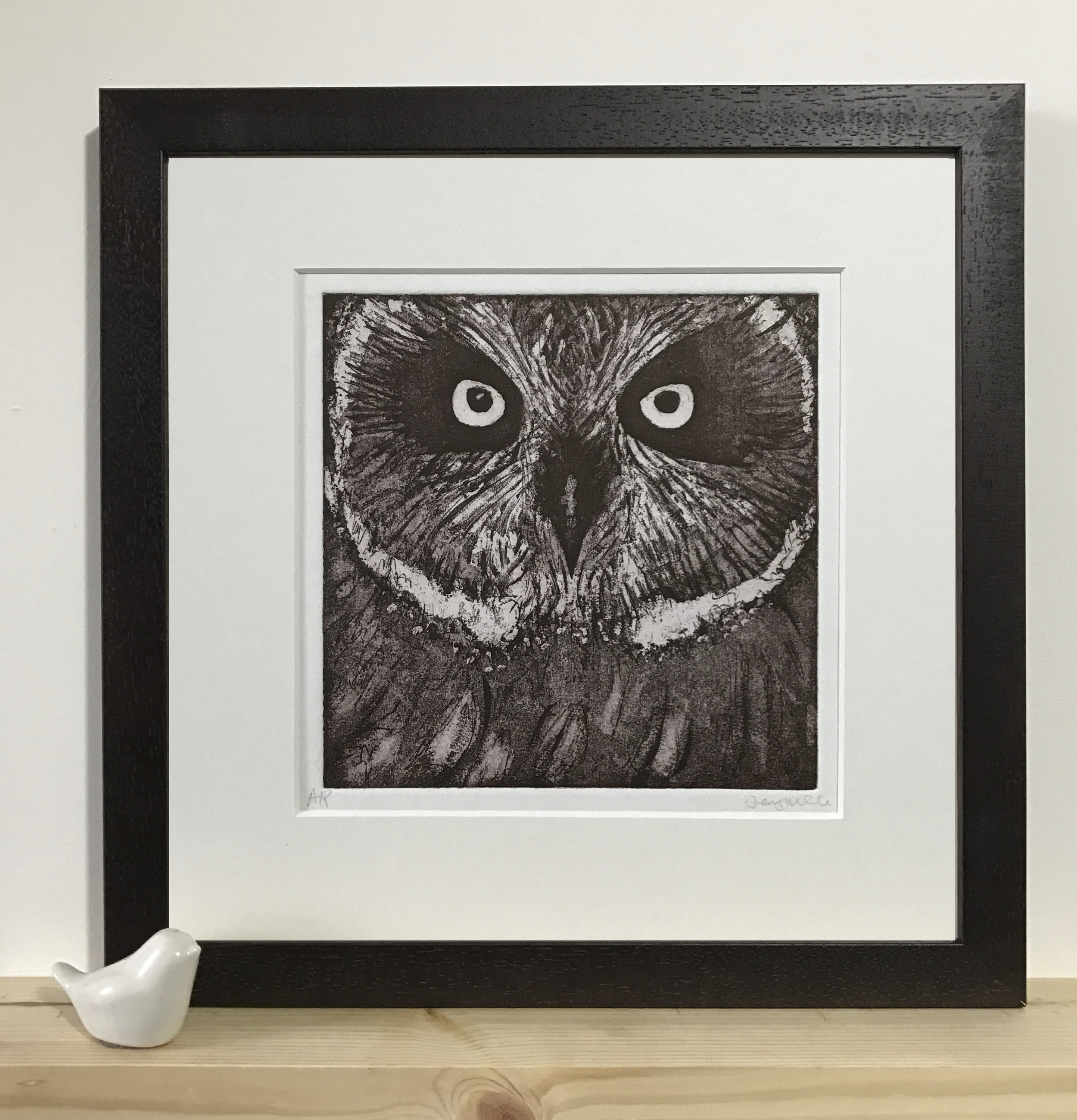 Owl close up. 2016. Etching. Edition of 6. SOLD OUT
