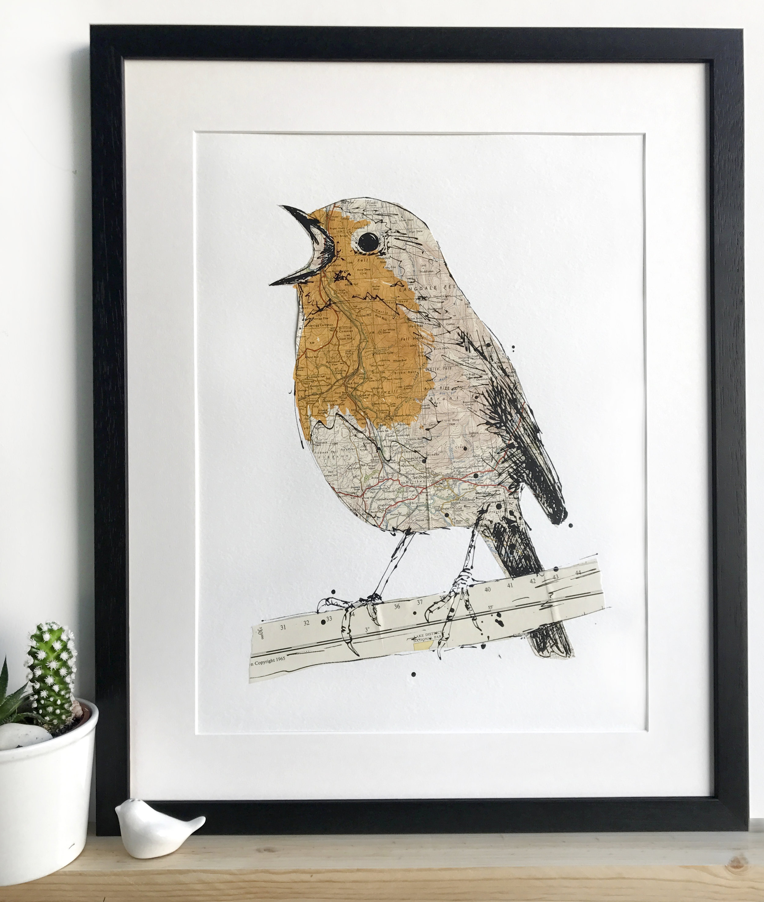 Robin. 2017 Collaged screen print. edition of 25. SOLD OUT