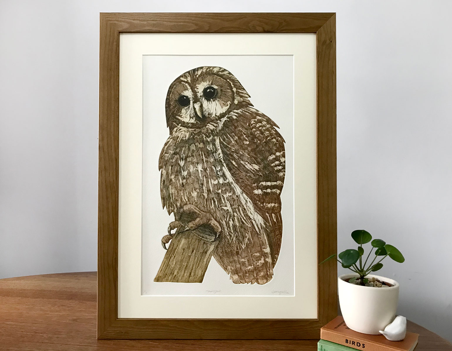 Tawny owl. 2018. Hand cut Etching. Edition of 12. SOLD OUT